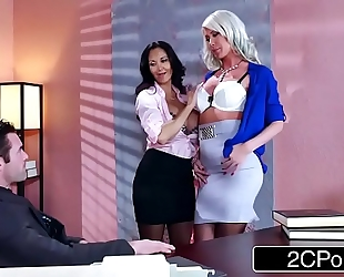 Sexy three-some in the office - ava addams, riley jenner