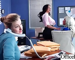 Hard sex tape in office with large round love muffins hawt horny white wife (ava addams & riley jenner) video-04