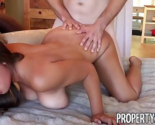 Propertysex - her large natural zeppelins impress potential client
