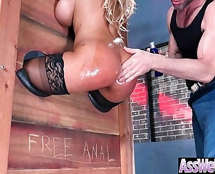(bridgette b) superb oiled slutwife with round large butt acquire analy nailed clip-09