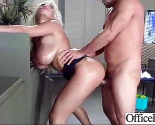 Intercorse in office with large melon round milk shakes white wife (bridgette b) video-09