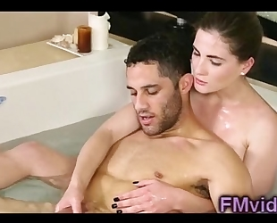 Sweet hottie molly jane plays with dong