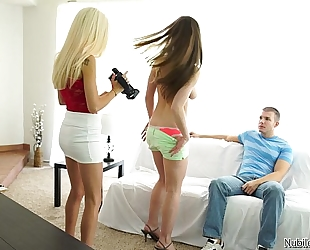 Porn try-out leads to sexy 3some