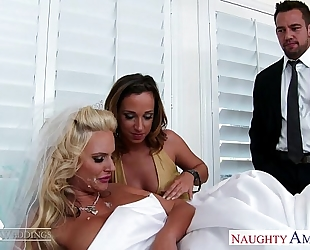 Sexy women jada stevens and phoenix marie share dong at wedding