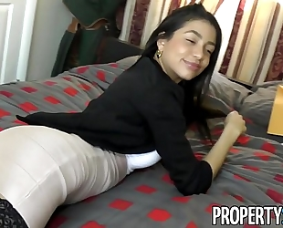Propertysex - squirting real estate agent cheers up her client with fantastic sex