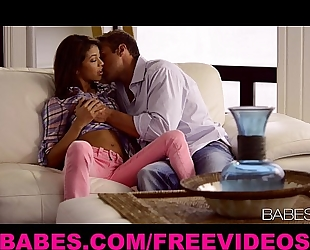 Thin youthful model veronica rodriguez makes love to her guy
