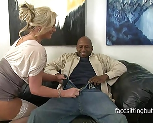 Horny cougar has a thing for biggest black cocks