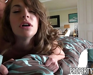 Propertysex - sexy real estate agent flirts with client and bonks his large schlong