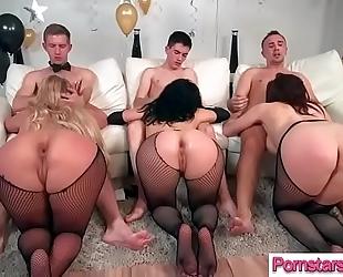 Superb pornstar (chanel preston & kristina rose & phoenix marie) acquire nailed hardcore by lengthy
