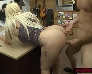 Big gonzo woman nina kayy sells herself and copulates shawns 10-Pounder