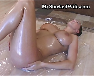 Baby oil rubbed on my large milk sacks
