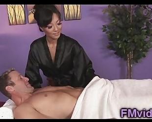 Asian playgirl asa akira engulfing dick after massage