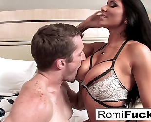 Romi rain receives a worthy fuck from a large schlong