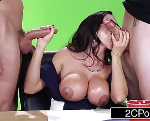Big news on the boob tube - hawt milf ariella ferrera copulates on camera