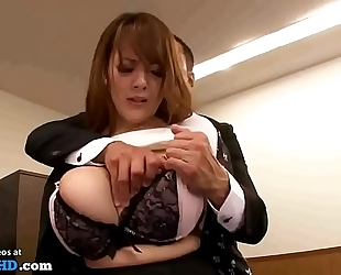 Japanese secretary with massive natural whoppers - greater quantity at elitejavhd.com