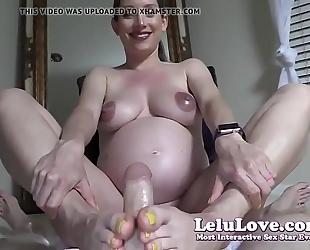 Lelu love-pov preggo footjob spunk flow on feet