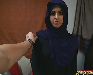 Sexy glamorous arab babe was being filmed