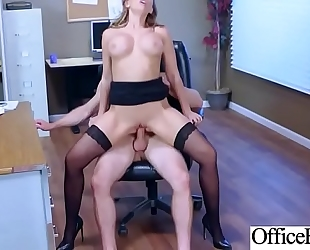 Hot nasty horny white wife (kagney linn karter) with large milk shakes copulates in office mov-14