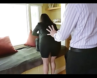 Sophie dee's mounds distract her boss from work!