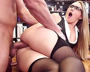 Aj applegate breathtaking wench with glasses