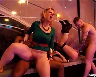 Blonde dirty slut wife with large ole gazoo receives it nice