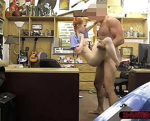 Gorgeous redhead dolly little acquires hammered by shawns massive penis
