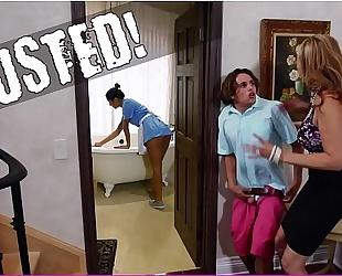 Bangbros - stepmom julia ann three-some & latin chick maid abby lee brazil