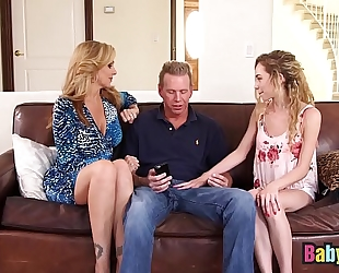 Little nanny angel smalls shares large knob with julia ann