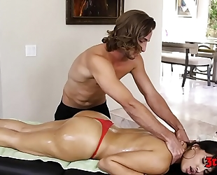 Horny brunette hair mercedes carrera sucks wang