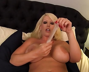 Alura jenson hires a male prostitute, makes him wear a cum drum cuz to her this chab is just life support for his large ol' ding-dong and that babe doesn't crave to acquire an std. like this chab is literally solely nice for sex this babe doesn&