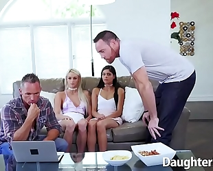 Emma hix and katya rodriguez engulfing shlong and group-fucked