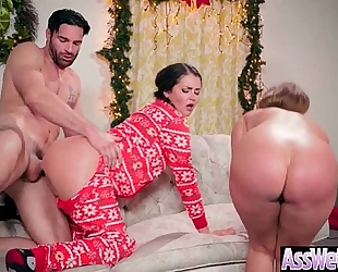 Anal hardcore sex tape with floozy large curvy wazoo wife (allie haze & harley jade) vid-08