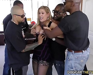 Cherie deville acquires group-fucked by large dark dongs
