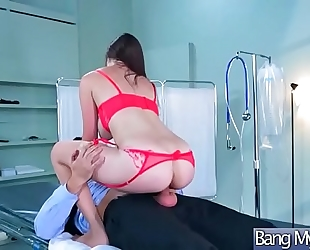 (holly michaels) sexy patient acquire tempted and team-fucked by doctor movie-12