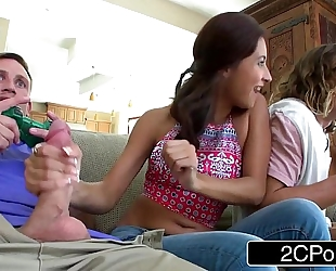 Jerk that pleasure stick - jade jantzen likes movie scene games and men's joysticks