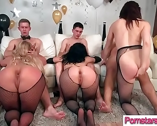 Kinky pornstar (chanel preston & kristina rose & phoenix marie) ride large hard lengthy ramrod fellow
