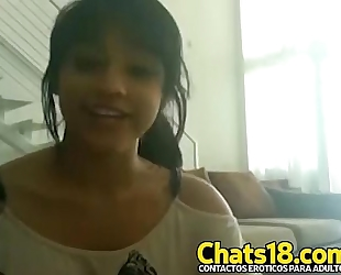 Latina muy mojada se masturba y llega a orgasmo fleshly hawt hermosa nenita joven cachonda