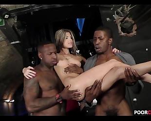 Cuck witness his BBC slut gina gerson banging 2 bbcs