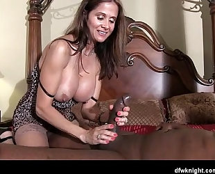 She takes the cum drum off