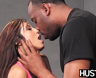 Busty cheerleader reena sky gets facial interracial