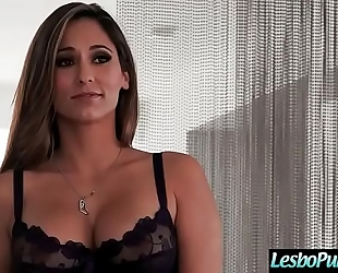 Mean lesbian punush with dildos a fascinating cute lez BBC slut (reena sky & morgan lee) video-28