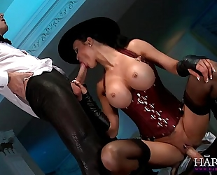 Jasmine jae is in charge and demands a large ramrod