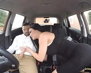 Jasmine jae bonks her driving examinee