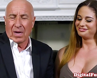 Gorgeous lalin girl voyeur joins fuck