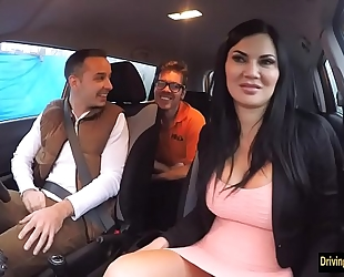 Driving instructress jasmine jae trio
