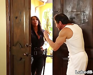 Lonely policewoman lastly acquires what that babe needs! # august taylor and tommy gunn