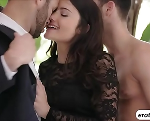 Beautiful hottie adria rae is treated with a three-some sex