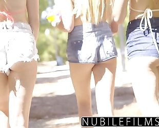 Nubilefilms - playful coeds have intensive lesbo three-some