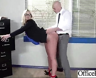 (julie cash) wench cheating wife with large juggs team fuck in office video-23