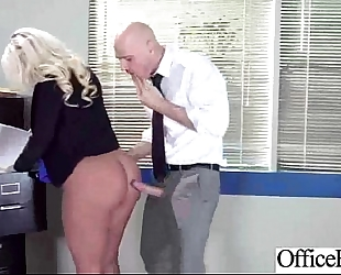 Hard sex in office with floozy large juggs slutty wife (julie cash) clip-23